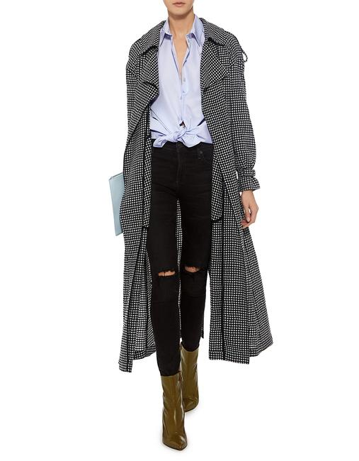 Preload https://img-static.tradesy.com/item/24029318/alexander-mcqueen-black-and-white-gingham-belted-trench-coat-size-4-s-0-0-650-650.jpg