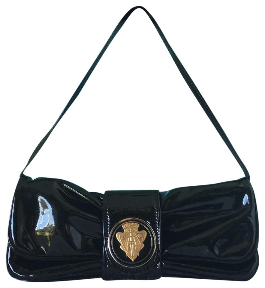 Gucci Hysteria Convertible Black Patent Leather Clutch - Tradesy 3216d6c0d9cce