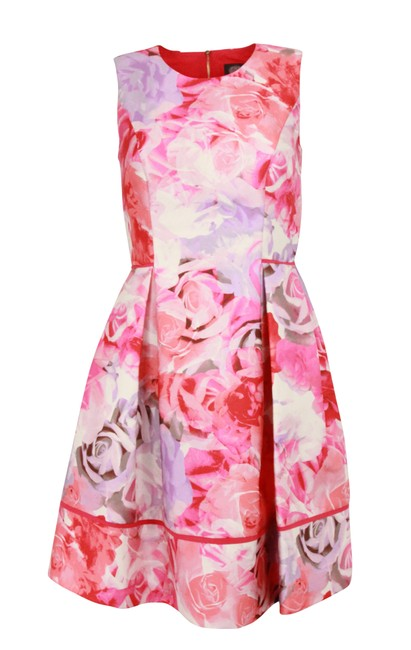 Item - Pink Fit-and-flare Mid-length Cocktail Dress Size 4 (S)