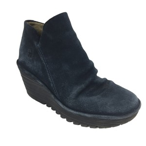 FLY London Blue & Black Boots