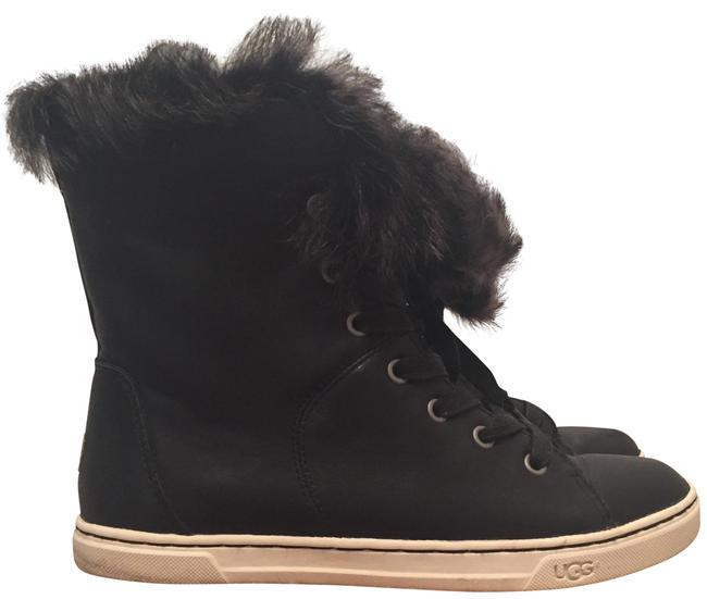 UGG Australia Black Croft Fur Sneakers Size US 5 Regular (M, B) UGG Australia Black Croft Fur Sneakers Size US 5 Regular (M, B) Image 1