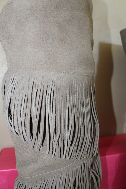 Chinese Laundry Gray Tall Fringe High Heeled Suede Boots/Booties Size US 7.5 Regular (M, B) Chinese Laundry Gray Tall Fringe High Heeled Suede Boots/Booties Size US 7.5 Regular (M, B) Image 5