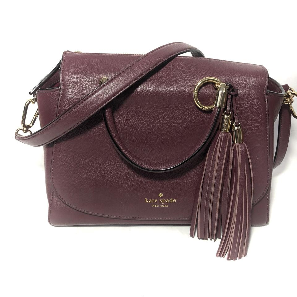 c8c413f1e612 Kate Spade New York Merlot Tassel Purple Leather Satchel - Tradesy