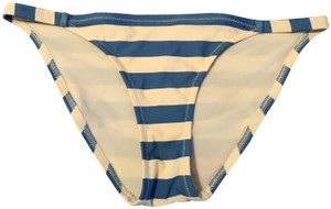 "Solid & Striped Solid & Striped blue ivory striped ""the morgan"" bikini bottom"