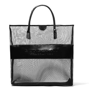 Burberry New Authentic Burberry Fragrance Black Mesh Tote Bag Beach Shopper Bag Large Size