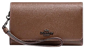 Coach COACH FLAP PHONE WALLET WITH RAINBOW STITCHING F31951