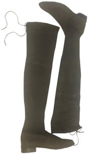 Stuart Weitzman Over The Knee Forest Green Boots