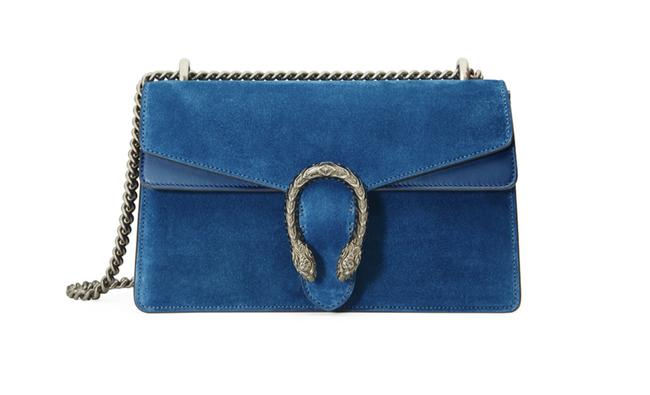 Gucci Dionysus Small Bright Blue Suede Leather Shoulder Bag Gucci Dionysus Small Bright Blue Suede Leather Shoulder Bag Image 1