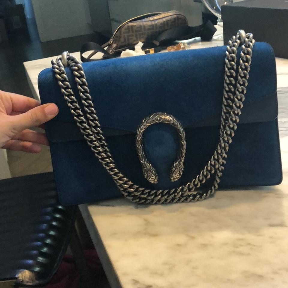 3c0b00ec9 Gucci Dionysus Small Bright Blue Suede Leather Shoulder Bag - Tradesy