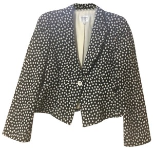 Armani Collezioni black and white Blazer