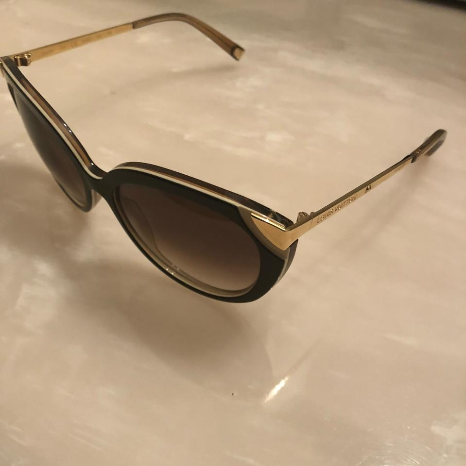 d132653143f7 Louis Vuitton Brown and Gold Frame Gradient Lenses. Z0620w Sunglasses -  Tradesy