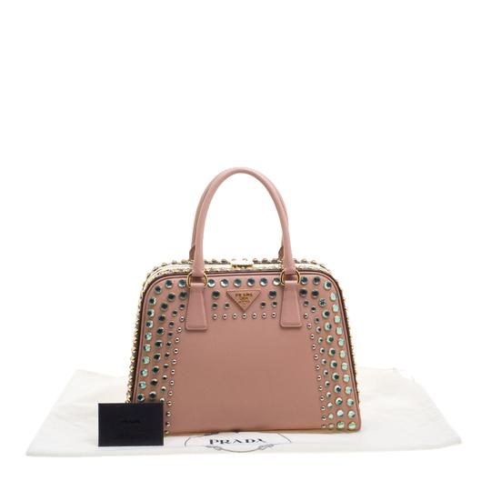 Prada Satchel in Blush Pink/Burgundy