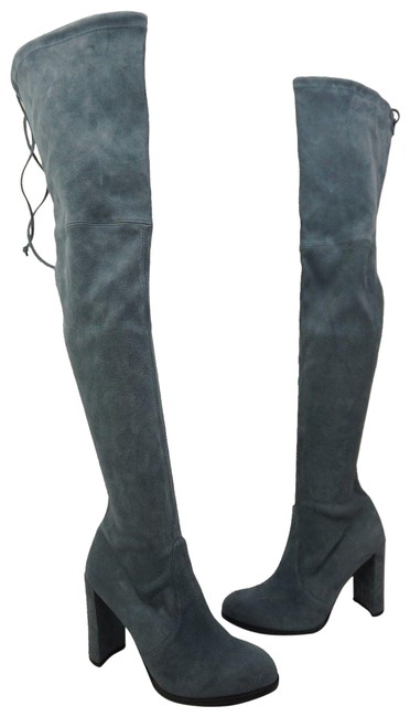 Item - Denim Hiline Light Blue Suede Over The Knee Boots/Booties Size US 9 Regular (M, B)