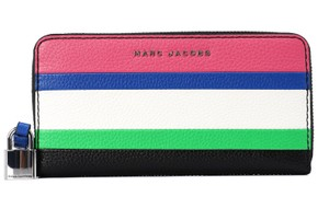 Marc Jacobs Marc Jacobs The Grind Leather Colorblocked Standard Continental Wallet