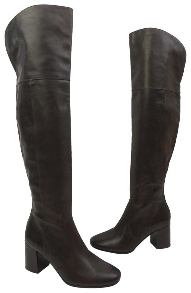 52826a1c0b4 Frye Brown Jodi Over The Knee Otk Leather Boots Booties Size US 7 ...