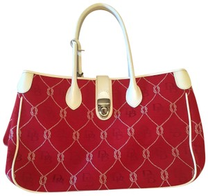 Dooney & Bourke Tote in Red & White