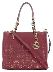 Michael Kors Medium Chain Md Ns Tote in red