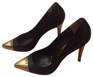 Ted Baker Black and gold metallic Pumps