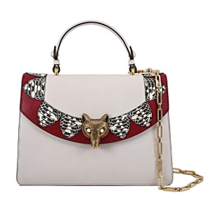 Gucci Leather Limited Edition Satchel in White And Red