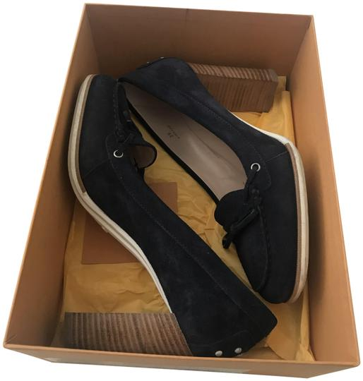 d7b220b3233 Tod s Navy Gomma T90 Vp Laccetto Barca Pumps Size EU 39 (Approx. US ...