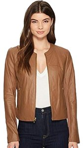 Via Spiga Soft Suede Brown Leather Jacket