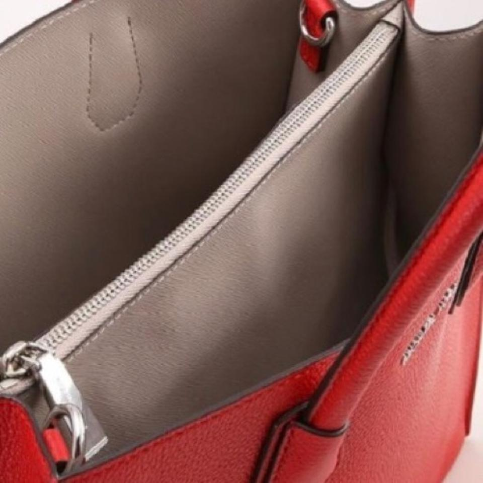 e5ed95cc9a37 Michael Kors Mercer Extra Large Bright Red Pebble Leather Tote - Tradesy