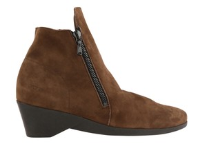 Arche Suede Ankle Zip Rubber Soles Brown Boots
