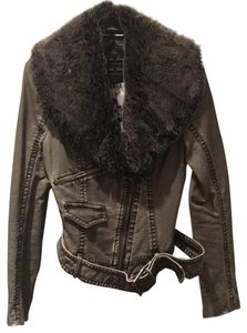 Guess New Faux Fur Motorcycle Jacket