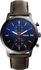 Fossil Fossil Men's Townsman 44mm Chronograph Gray Leather Watch FS5378