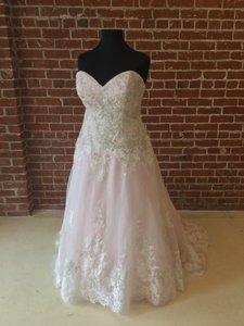 Ice Pink Tulle Formal Wedding Dress Size 24 (Plus 2x)