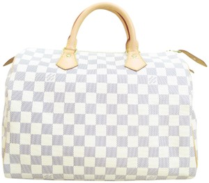Louis Vuitton Speedy Canvas Tote in Damier Azur