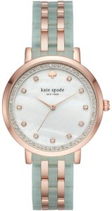d82731f4a7e Kate Spade Kate Spade New York Women s pink and sage IP monterey watch  KSW1423