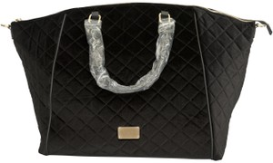 bebe Quilted Black Travel Bag