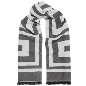 Givenchy logo wool cashmere scarf