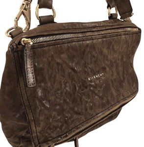 632f3e01cd Givenchy Pandora Leather Designer Satchel in Brown