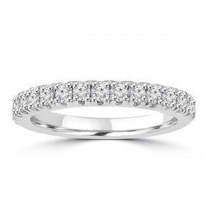 Madina Jewelry White 0.80 Ct Ladies Round Cut Diamond Band Ring