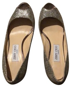 Jimmy Choo champagne silver sparkle Pumps