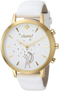 Kate Spade Kate Spade New York Women's gold-tone and white leather smartwatch