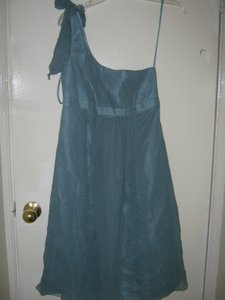 Melissa Sweet Blue Silk Feminine Bridesmaid/Mob Dress Size 4 (S)