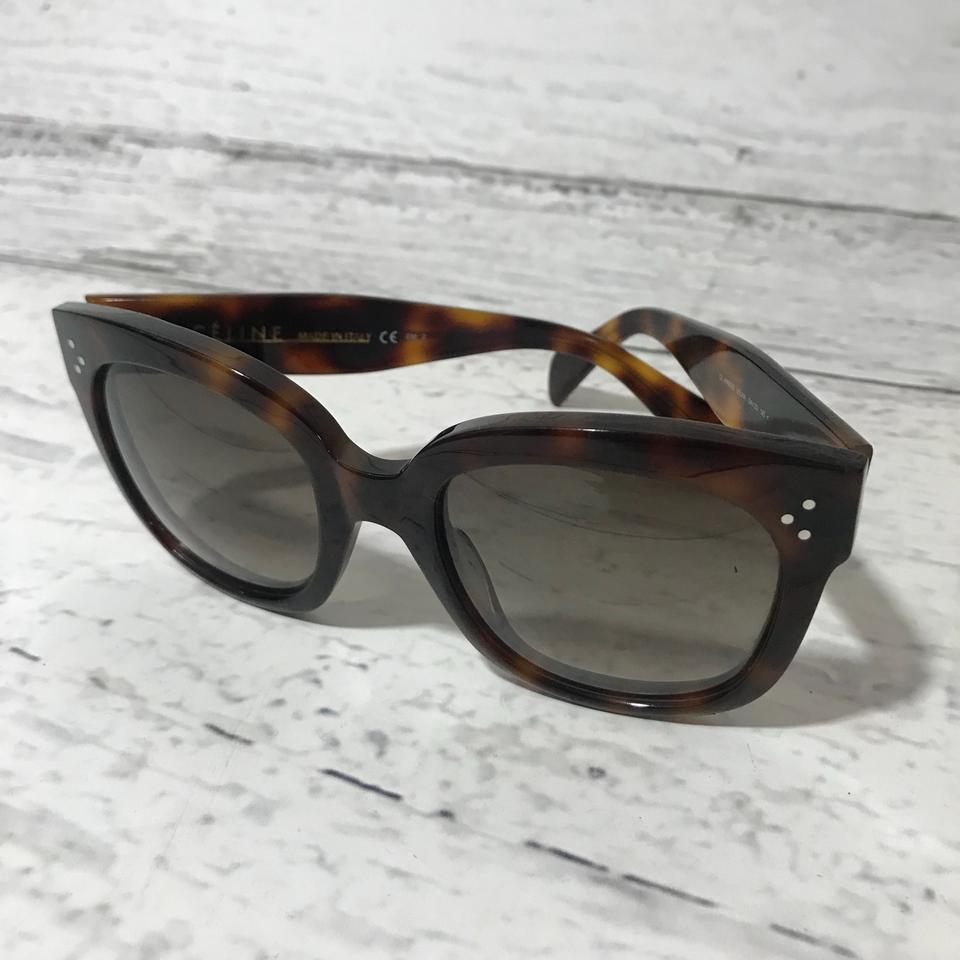 25ca462d7b4 Céline Celine CL41805 S New Audrey Havana Brown Sunglasses Image 7. 12345678