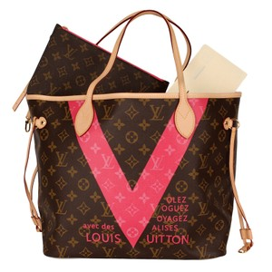 40f1fa0886f1 Louis Vuitton Monogram Canvas Limited Edition Neverfull Leather Tote in  Brown