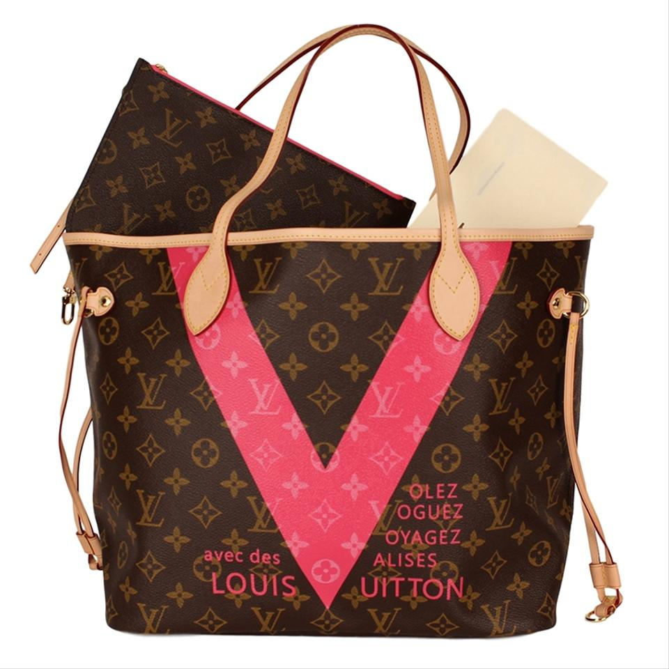 Louis Vuitton Monogram Canvas Limited Edition Neverfull Leather Tote in  Brown Image 0 ... c46e1871991ee