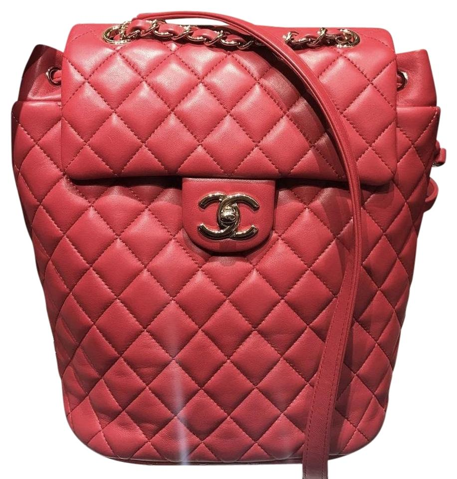 a4026df5eeb7 Chanel Urban Spirit Small Urban Red Lambskin Back Backpack Image 0 ...