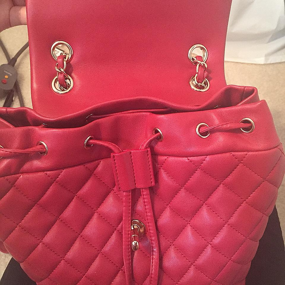 85179fe2f436 Chanel Urban Spirit Small Urban Red Lambskin Back Backpack Image 8.  123456789