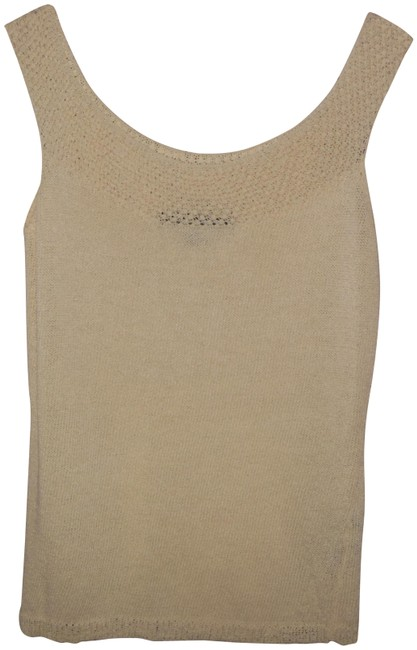 Item - Winter White Wool/Viscose Blend Sleeveless Sweater Cami Blouse Size 12 (L)