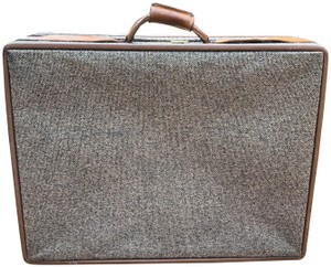 Hartmann Vintage Securecode Tweed Leather Paisley Brown Travel Bag