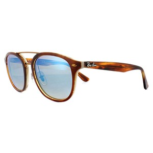 7c3ab83eac3 Ray-Ban Square Style Unisex RB2183 1128B7 Grey Blue Mirrored Lens Sunglasses