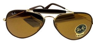 Ray-Ban RB3422Q-9041 Men's Brown Frame Brown Lens Genuine Sunglasses