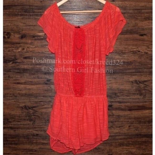 Free People Jumper Ruffle Trim V Neck Surplice Fp New Long Sleeve Dress Image 3