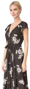 Black Maxi Dress by Free People Floral Maxi Short Sleeve
